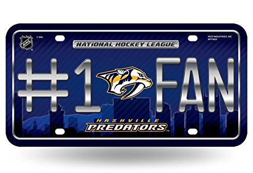 Metal Sport Predator - NHL Nashville Predators #1 Fan Metal License Plate Tag