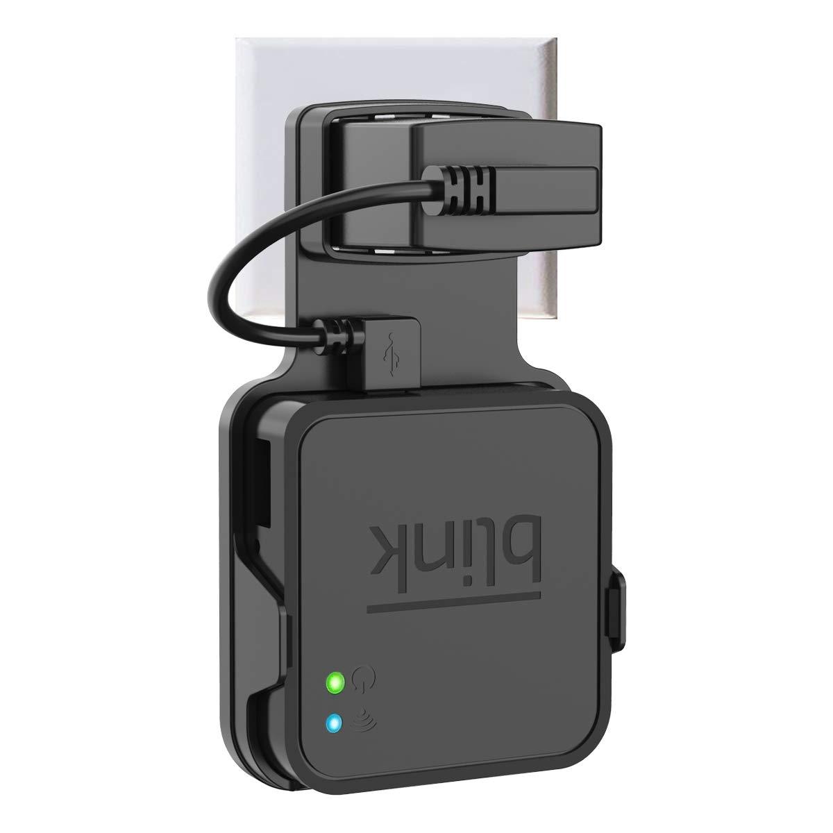 Wigoo Wandhalterung f/ür Blink Sync Modul Halterung Schutzh/ülle St/änder Router Guard mit Ladekabel kompatibel Blink XT au/ßenbereich und Innenbereich Wei/ß