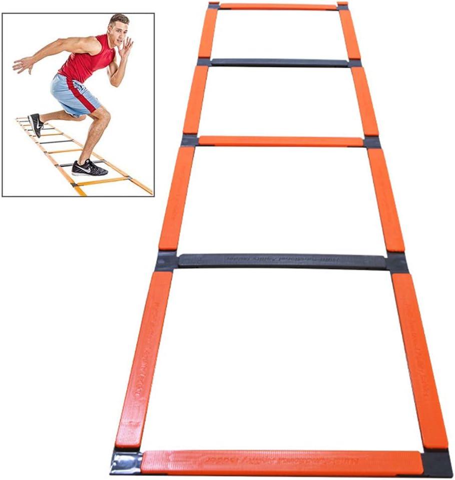 LANGYINH Escalera Ágil Escalera De Entrenamiento De Velocidad Equipo De Práctica De Fútbol Hurdle Rack,Configuración Fácil (5 Metros 11 Nudos): Amazon.es: Deportes y aire libre
