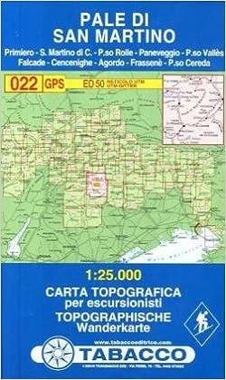 Cartina Tabacco 024.Amazon It Pale Di San Martino 1 25 000 022 Tabacco Libri In Altre Lingue