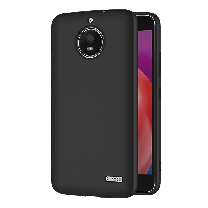 1 opinioni per Cover per Moto E4, AICEK Cover Motorola Moto E4 Nero Silicone Case Molle di TPU