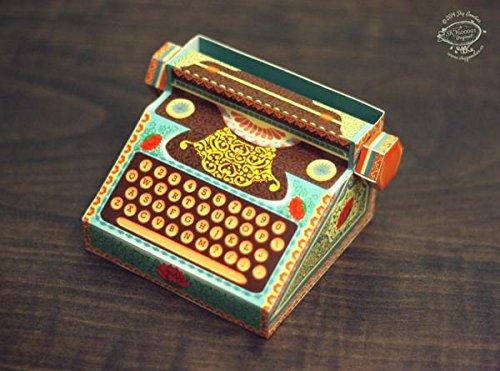DIY Typewriter Type Calendar for 2018 & 2019 (Colorful) Calendar Type