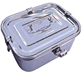 Stainless Steel Rectangular Kimchi Food Storage Container (5L / 168oz / 10.6'')