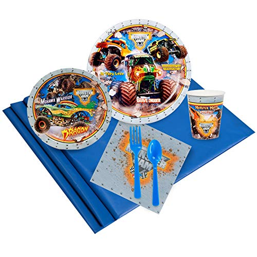 BirthdayExpress Monster Jam Party Supplies - Party Pack for 16]()