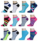 AirStep Women's No Show Athletic Socks - 12 Pack,16113-Multi,Sock Size: 9-11 Fits Shoe: 4-10