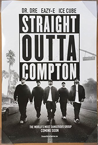 Amazon STRAIGHT OUTTA COMPTON MOVIE POSTER 2 Sided ORIGINAL