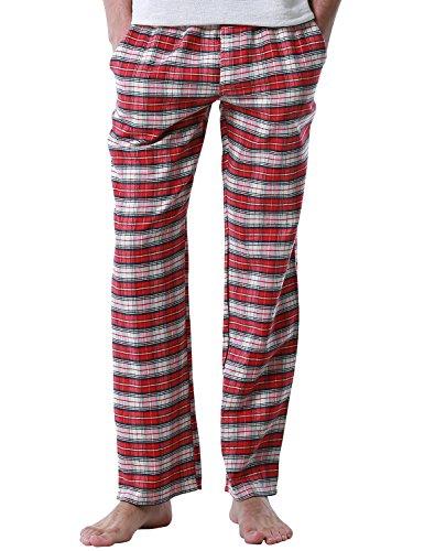Match Men's Soft Plaid Lounge Pajama Pan - Check Flannel Pajama Pant Shopping Results
