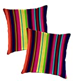 Set Of 2 Replacement Pillows For Outdoor Hanging Rope Hammock Swing (Sold Separately), Each 22'' Sq - Fiesta Stripe