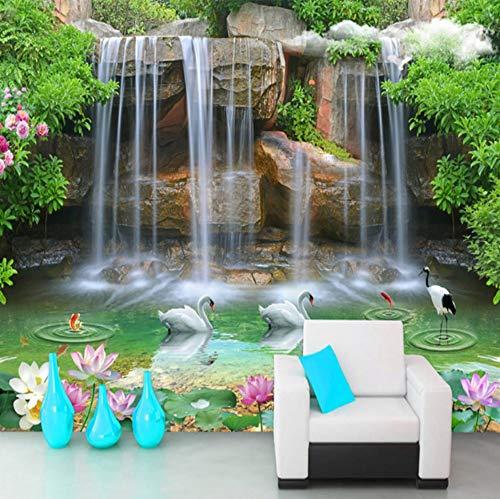 3D Wall Stickers Wallpaper Decorations Murals Waterfall Landscape Living Room Sofa Background Bedroom Art Girls Tv (W)400X(H)280Cm ()