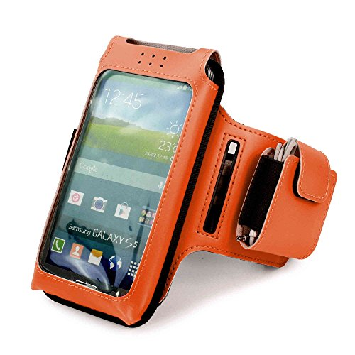 Sports Armband for Samsung Galaxy S5 and HTC One M7 (Orange) - 8