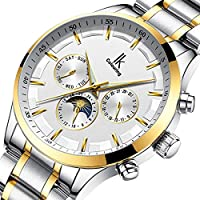 IK Colouring Men Watch Classic Casual Stainless Steel Strap Wrist Watch Luminous