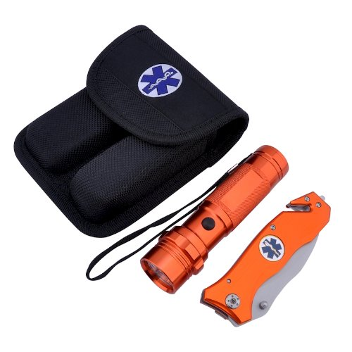 Emergency Rescue Knife and Flashlight Set, Outdoor Stuffs