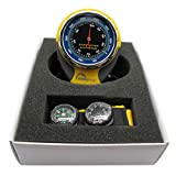 Detectoy Portable 4-in-1 Multifunction Altimeter Barometer with Compass Thermometer Pressure Measuring for Outdoor Camping Hiking