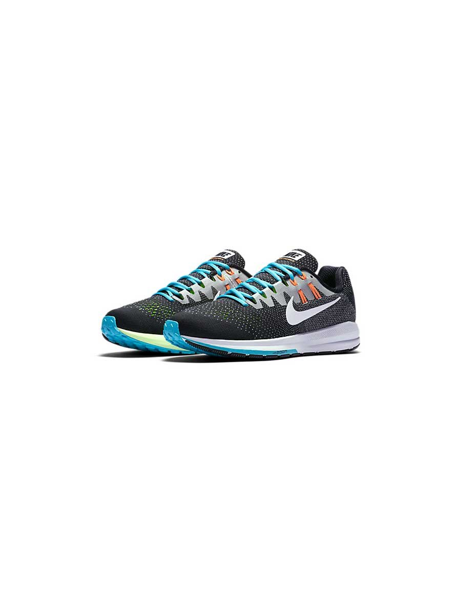 Nike Air Zoom Structure 20 Mens Running Trainers 849576 Sneakers Shoes (uk 8.5 us 9.5 eu 43, black white pure platinum blue 018) by NIKE