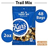 Kar's Nut 'N Yogurt Trail Mix Snacks - Bulk Pack of 2 oz Individual Single Serve Bags (Pack of 48)