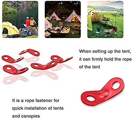Aluminum Tent Awning Cord Rope Fastener Guy Line Runners Tensioners F1B5