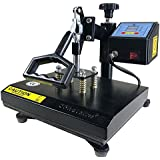 "ePhotoInc New T Shirt Transfer Heat Press Machine 12"" X 9"" Digital Swing Away Heat Press Transfer Machine for T-Shirt ZP9BLK"