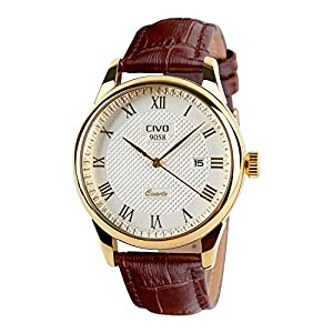 CIVO Men's Luxury Date Calendar Wrist Watches Men Casual Business Dress Waterproof Watch Simple Design Fashion Classic Analogue Quartz Watches for Men