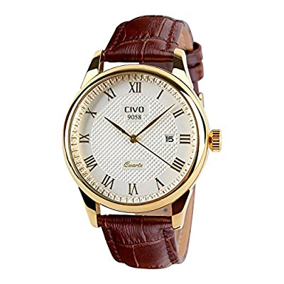 CIVO Men's Luxury Date Calendar Wrist Watches Men Casual Business Dress Waterproof Watch Simple Design Fashion Classic Analogue Quartz Watches for Men by CIVO