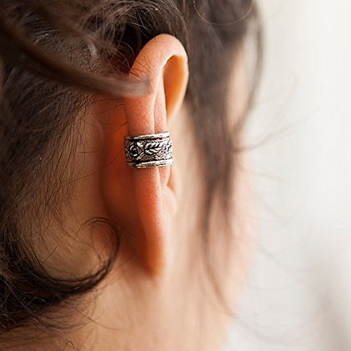 Jewelry Ear Cuff (Silver Ear Cuff - Ear Wrap - Fake Ear Cuff - Earcuff Jewelry - Cuff & Wrap Earrings - Wrap Earrings - Earcuff Jewelry - Cartilage Earring)