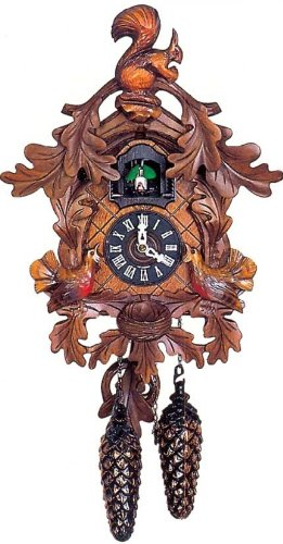 (Orignal One Day Movement Cuckoo Clock with Squirrel 15.5 Inch)