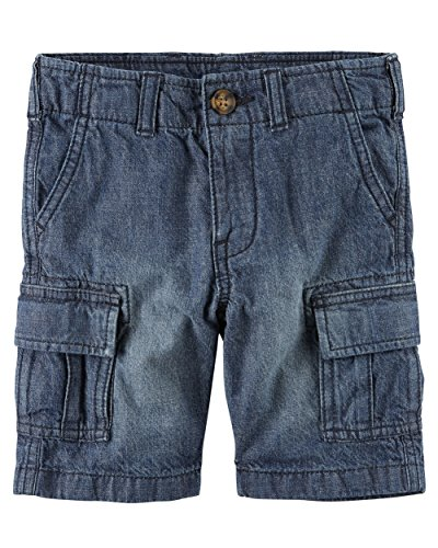 Carter's Boys Straight Fit Woven Cargo Shorts, Navy (12 Months) ()