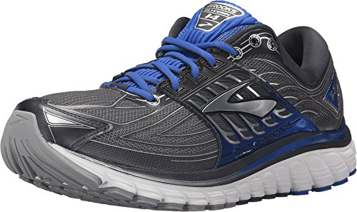 Brooks Men's Glycerin 14 Anthracite/Electric Blue/Silver Sneaker 15 D (M)
