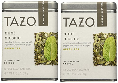 Tazo Mint Mosaic Full Leaf Tea Starbucks Green Tea (Pack of 2) - Full Leaf Tazo Tea