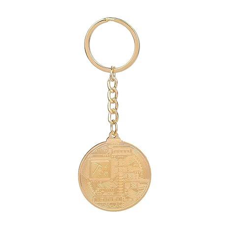 VORCOOL Llavero Metal de Bitcoin Moneda Fisica Moneda ...