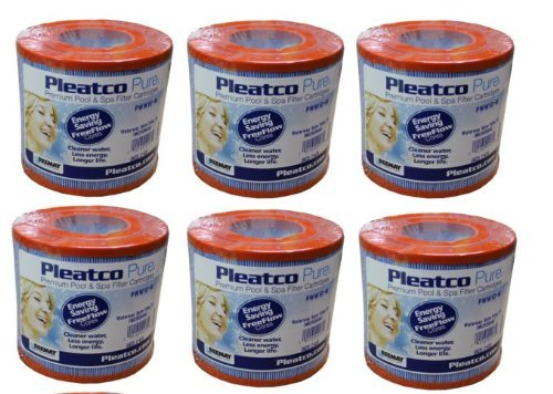 6 PACK PLEATCO PWW10-M Microban Hot Tub/Spa Skim Filter Pool C-4310 for Waterway 6 x PWW10-M