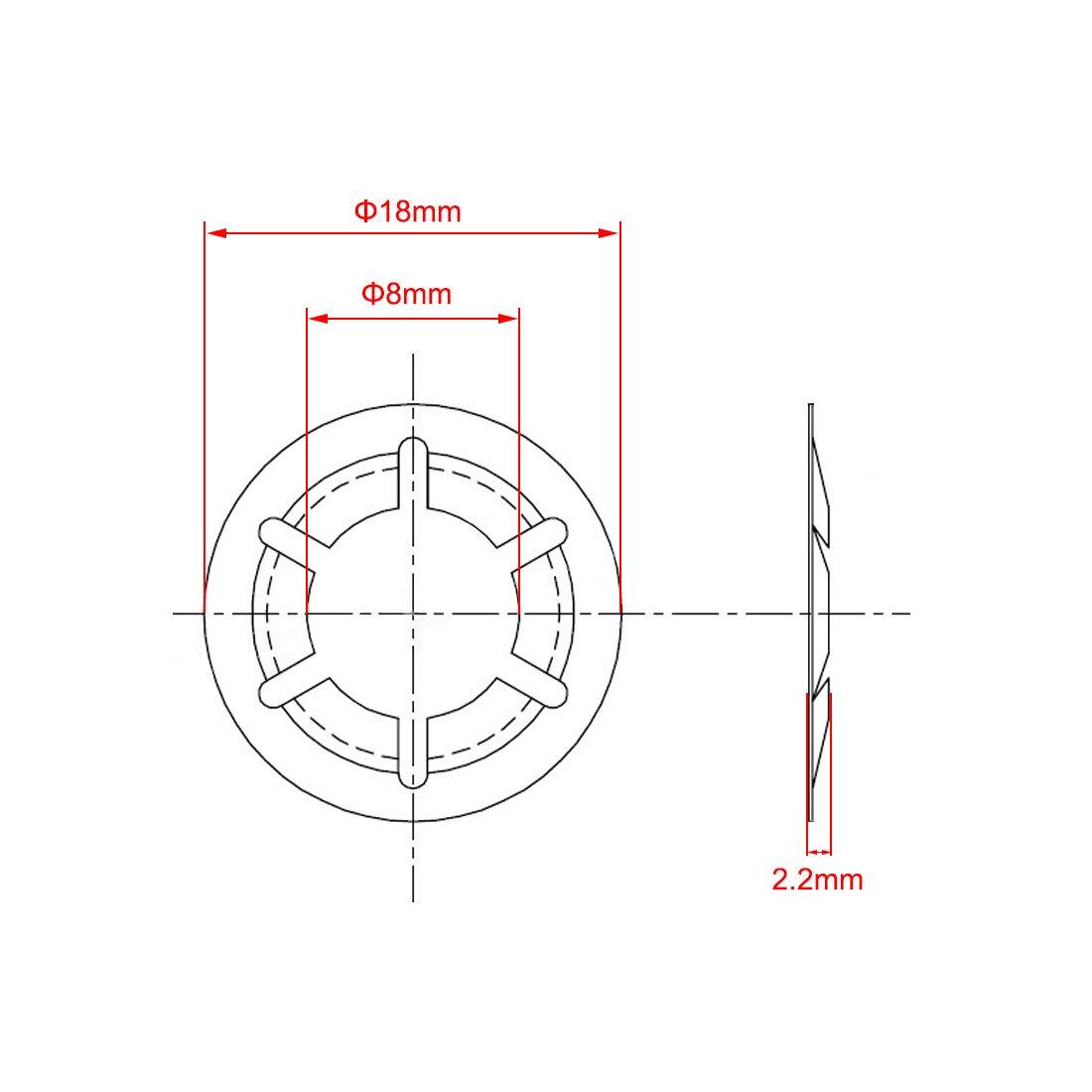 Sourcing Map Starlock rondelle denti interno Push rondelle di bloccaggio della clip di fissaggio assortimento kit