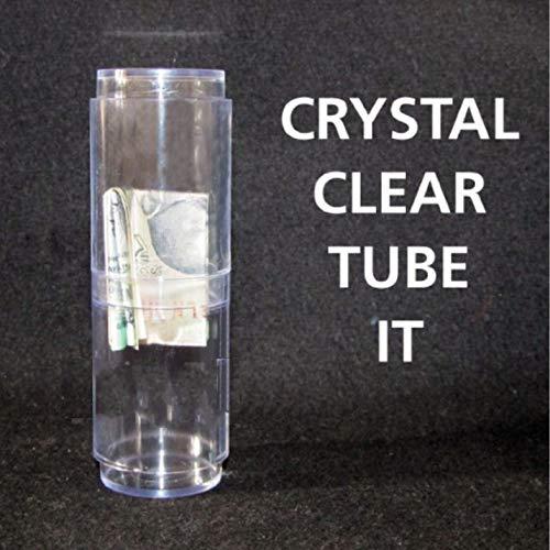 (MilesMagic Magician's Crystal Clear Tube It Classic Bill Tube Transparent Real Magic Trick )
