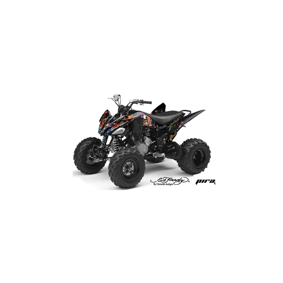 Ed Hardy AMR Racing Yamaha Raptor 250 ATV Quad Graphic Kit