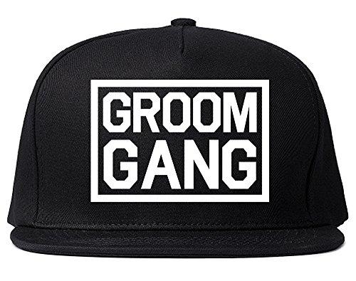 Groom Gang Bachelor Party Snapback Hat Cap Black