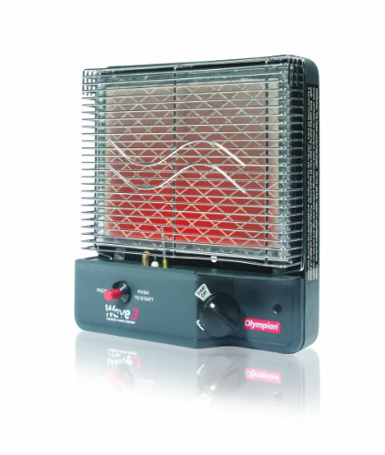 Olympian Wave 3 LP Portable Gas Catalytic Heater by Camco (3000 BTU )- Can Warm Up to 130 Square Feet of Space (57331) (Furnace Camper Propane)