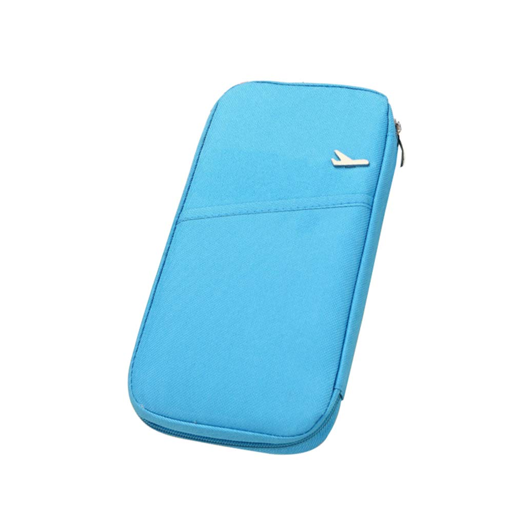 Blue VORCOOL Travel Document Organizer Travel Wallet Passport Holder Storage Bag Case