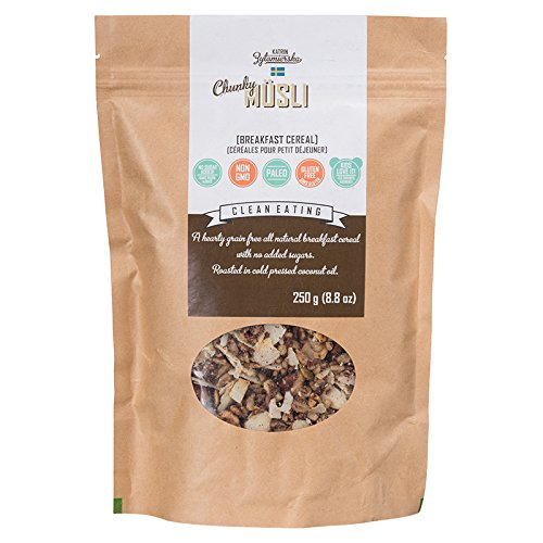 KZ Clean Eating - Swedish Breakfast Cereal - Low Carb Paleo - 250g (8.8oz) - Gluten free - No added sugar
