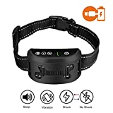 Luvsmart Bark Collar[2018 NEWEST]-Dog Anti Bark Collar Rechargeable with Vibration and No Shock/Static Shock for Small Medium and Large Dog