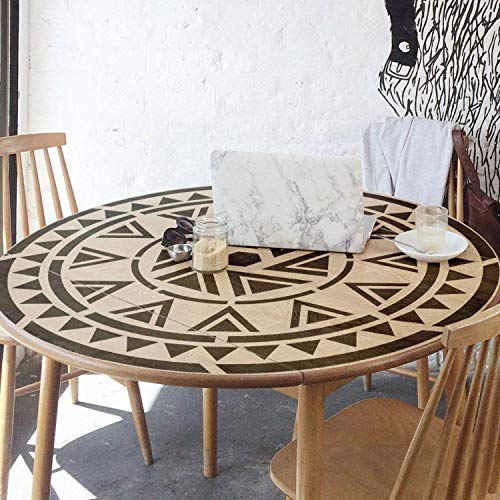 Aztec Motive Stencil - Mandala Wall Stencil