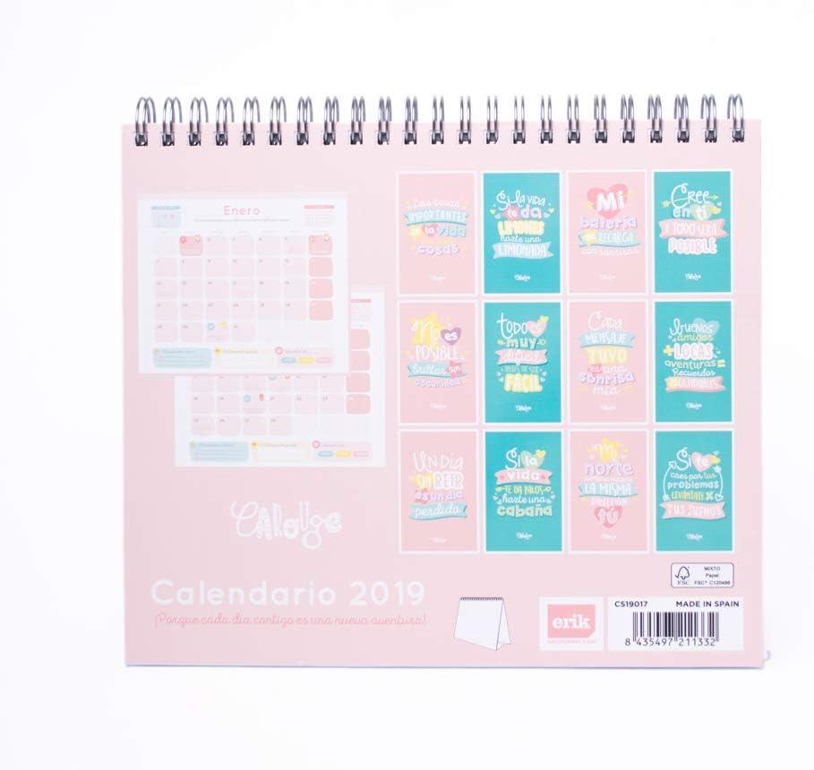 Grupo Erik Editores - Calendario de sobremesa Carouge 2019, 17 x ...