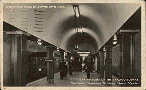 - Center Platform in Downtown Area Chicago, Illinois Original Vintage Postcard