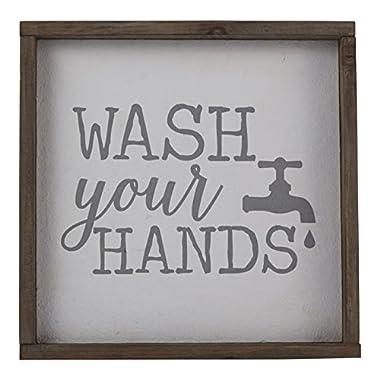 Mud Pie Wash Your Hands Plaque