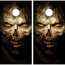 Avery C34 Zombie CORNHOLE LAMINATED DECAL WRAP SET Decals Board Boards Vinyl Sticker Stickers Bean Bag Game Wraps Vinyl Graphic Tint Image Corn Hole
