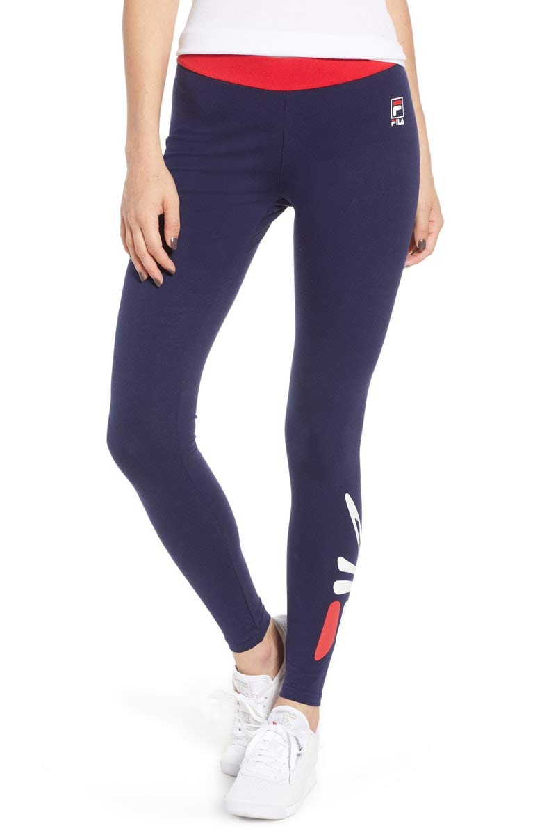 Fila Madison Tights (Peacoat/Chinese Red-White, L)