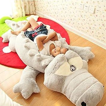 Amazon.com: 39.5/51 Inch Soft Stuffed Huge Animal(Crocodile) Cushion ...