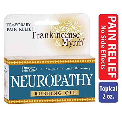 - Frankincense & Myrrh Neuropathy Rubbing Oil with Essential Oils for Pain Relief, 2 Fluid Ounces - 1 Pack