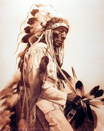 2115412de5a Chief The Old Cheyenne Edward Curtis Native American Art Print Poster  (16x20) - Buy Online in UAE.