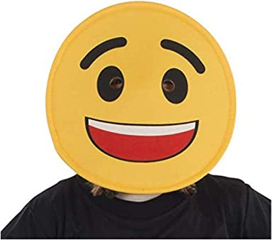 Emoji Child Fancy Dress Costume Emoticon Tears of Laughter Face One Size