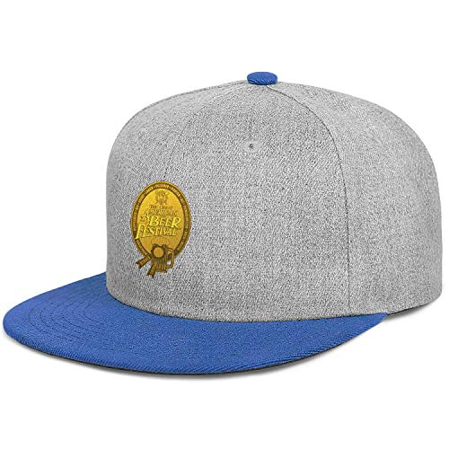 GuLuo Great American Beer Festival Gold Medal Flat Brim Baseball Cap Funky Adjustable Sandwich Wool Hat