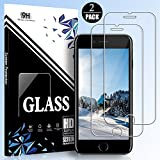 EESHELL iPhone 8 Plus/7 Plus/6S Plus/6 Plus Screen Protector,[2 Pack] 9H Hardness Tempered Glass,Shatter-Proof,HD Clarity,Bubble-Free,3D-Touch,Easy-Install,Clear Anti-Bubble Film for iPhone 8P/7P/6SP.